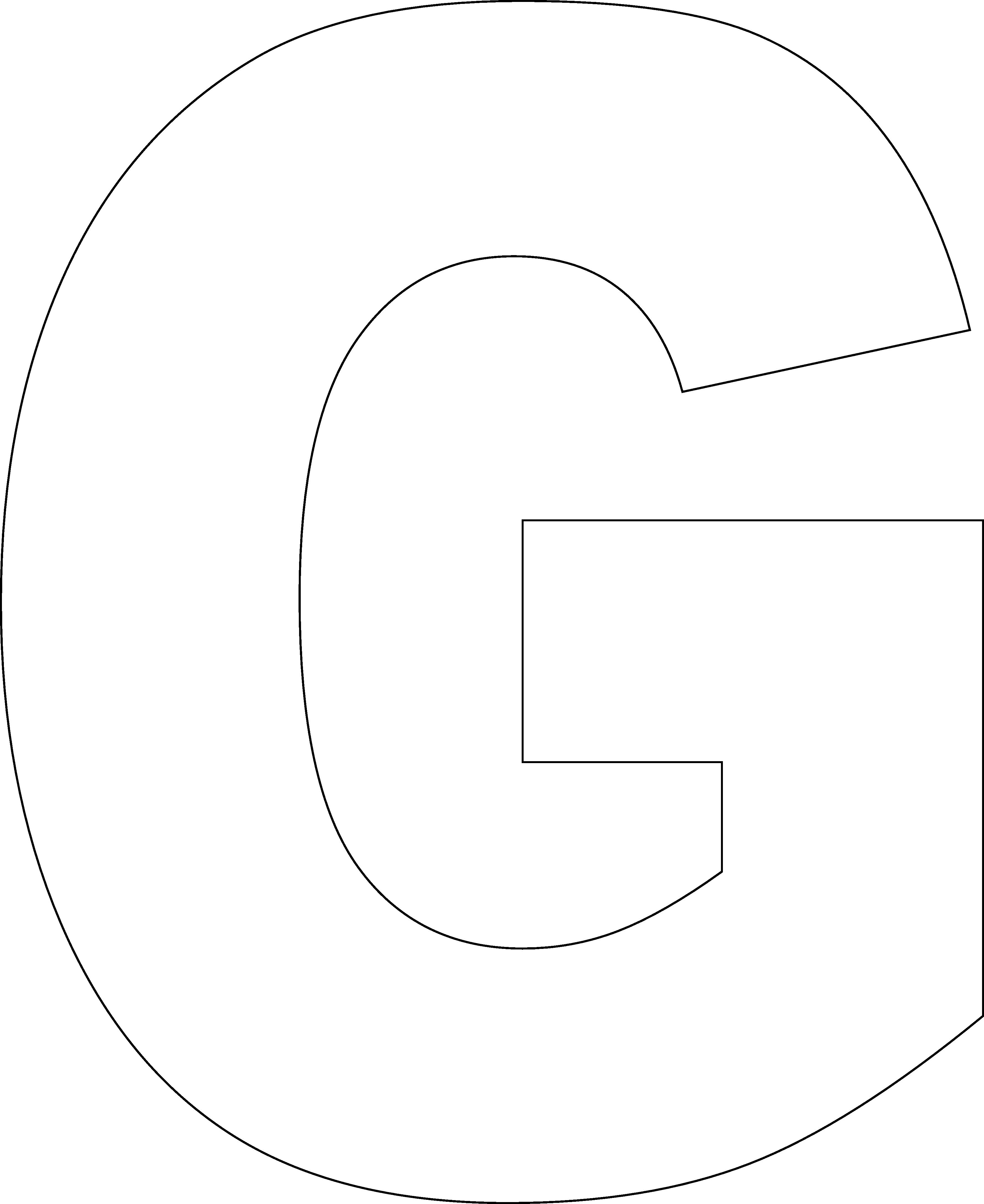 Lettergprintabletemplates large printable pinterest large printable alphabet letters g free printable large alphabet letter templates letter g cut out large printable spiritdancerdesigns Image collections