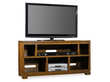 """The Viewpoint Entertainment Console accommodates up to a 60"""" flat screen television with storage compartments for components."""