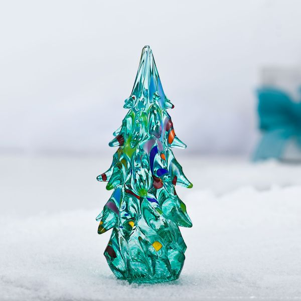 Hand Blown Glass Christmas Tree Sculpture Tree Sculpture Glass Christmas Tree Glass Blowing