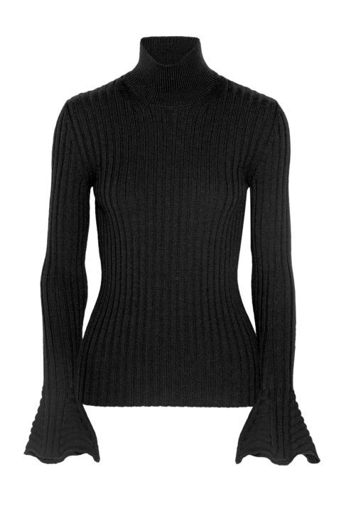 I need to find one a bit cheaper: Lanvin Ribbed Wool Turtleneck Sweater, $1,205; net-a-porter.com | 50 Best Sweaters For 2016 Fall - Warm Sweaters for Fall and Winter from Elle