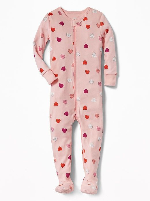 e98ce38fc Old Navy Candy-Hearts Print Footed Sleeper for Toddler   Baby ...