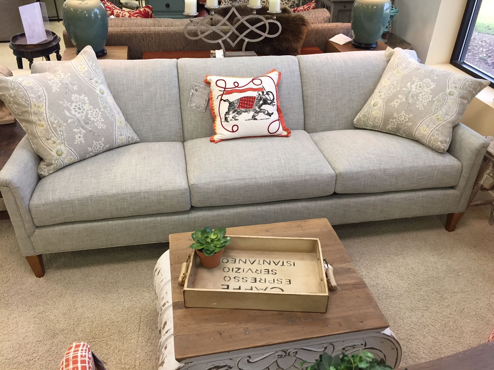 CR Laine Digby Long Sofa Albritton Showroom
