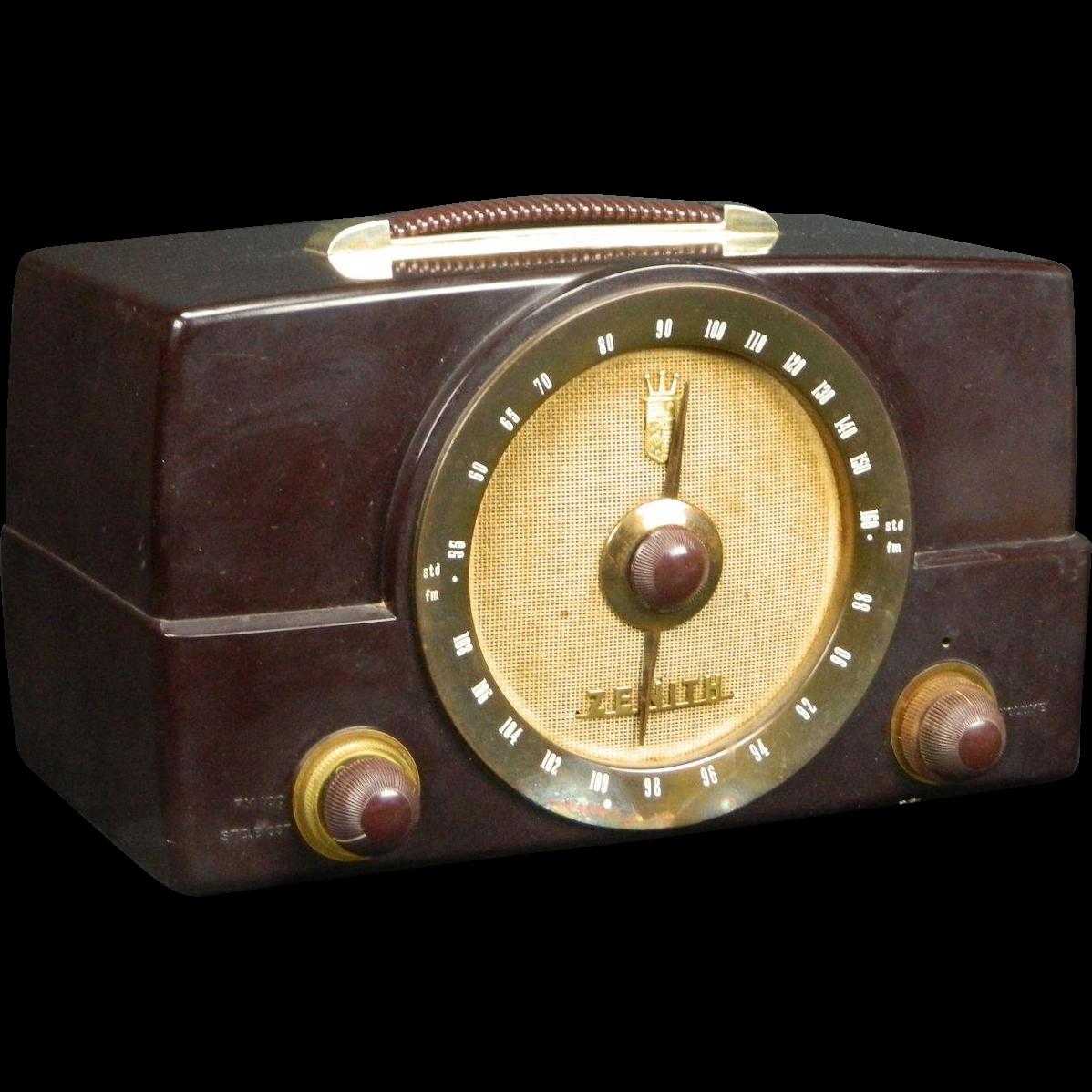 1950 Zenith Am Fm Radio Model H725 Www Rubylane Com Shop Extraordinary Radios Vintage Radio Antique Radio Old Radios