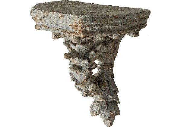 Exquisite Cornice Wall Shelf - From Antiquefarmhouse.com - http://www.antiquefarmhouse.com/current-sale-events/cottage-chic2/exquisite-cornice-wall-shelf.html