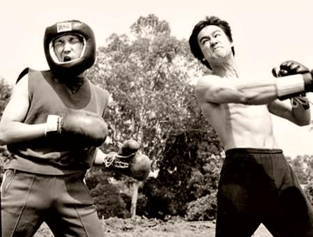 Bruce sparring with Ted Wong