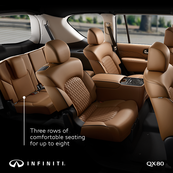 Step Inside Comfortable Capable Luxury With The 2019 Infiniti Qx80 With Spacious Seating For Up To Eight Qx80 Is With Images Luxury Suv Infiniti Classic Cars