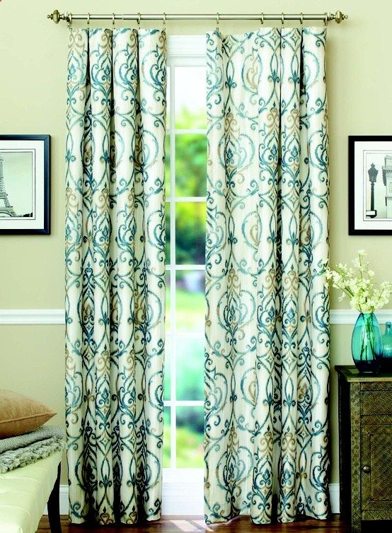 These Stylish Ikat Scroll Curtain Panels Are Designed To Block Out