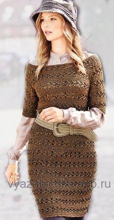 платье туника крючком елена вязалочка вязание спицами и крючком