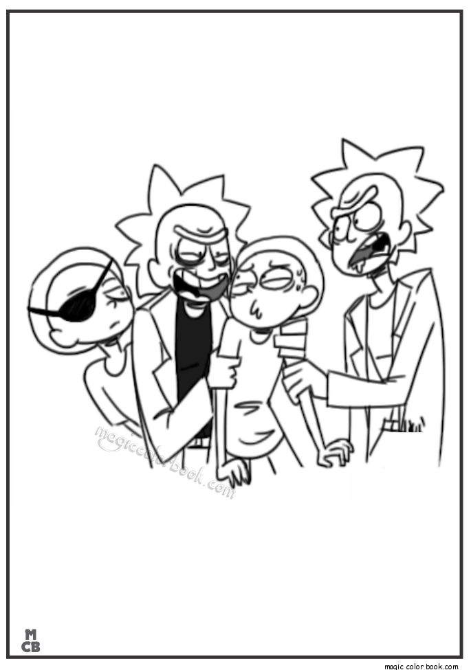 rick morty coloring pages 04