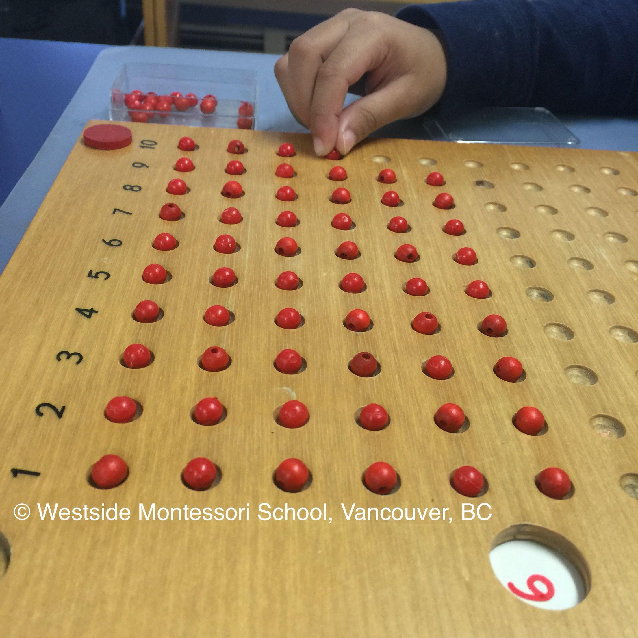 Montessori Multiplication Board
