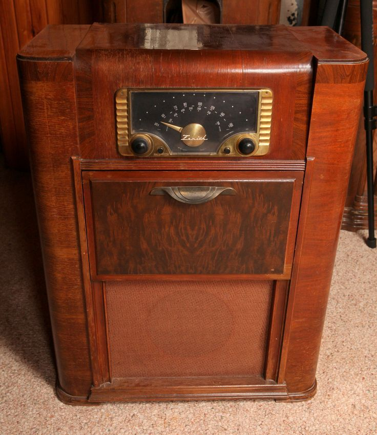 1940s Zenith Console Radio Phonograph Vintage Radio Cabinet Antique Radio Vintage Radio