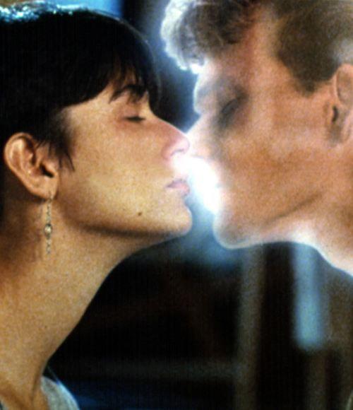 Haunted Kiss Demi Moore Patrick Swayze In Ghost