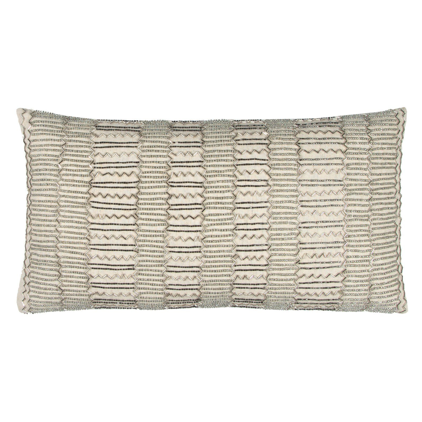 Rizzy Home Embellished Stripes Decorative Pillow - PILT12369NT001121
