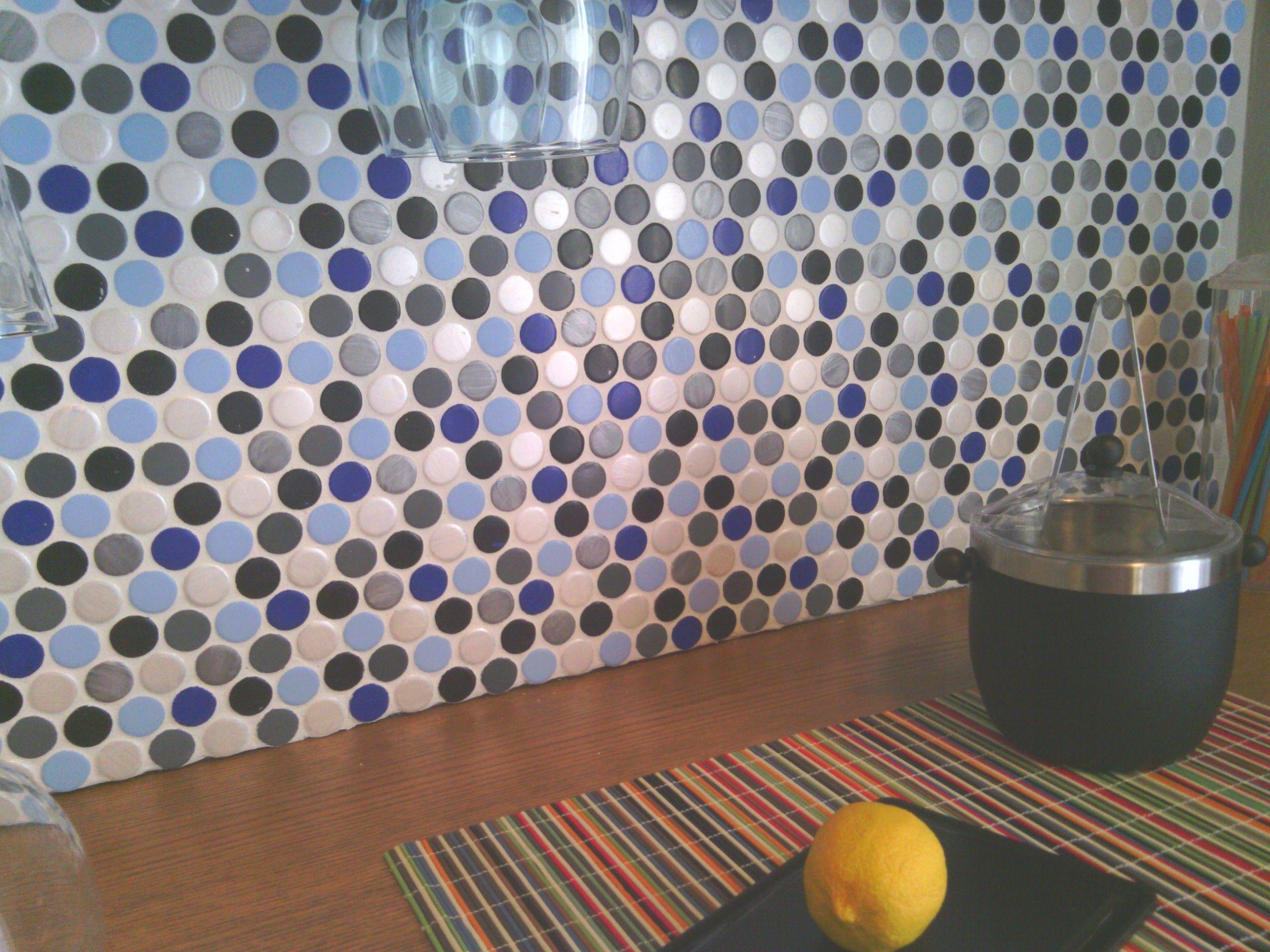 - Bottle Cap Backsplash Color Tile Backsplash, Slate Backsplash