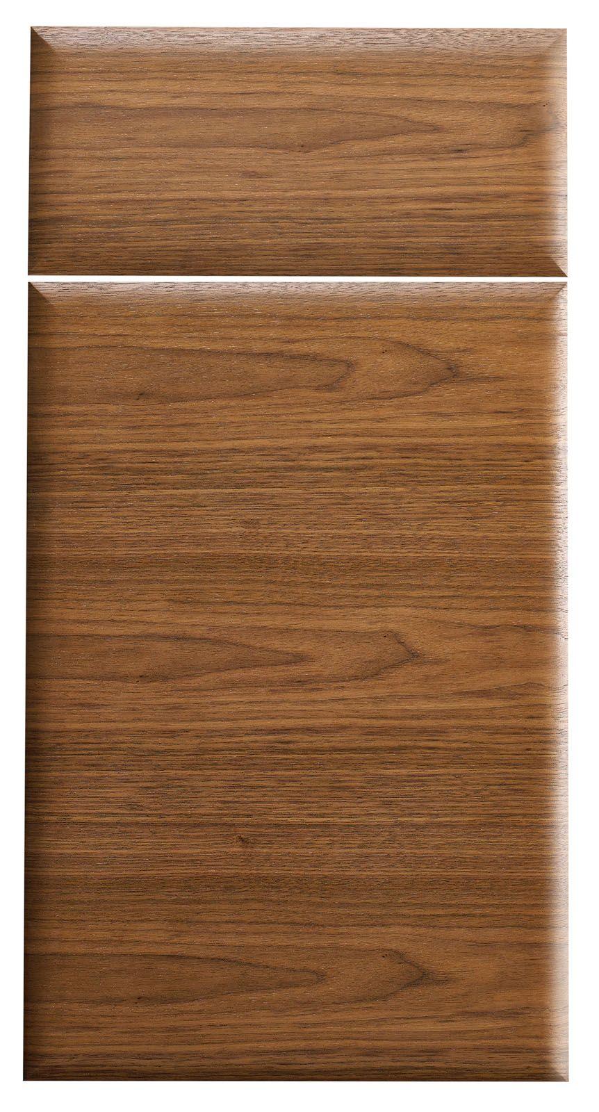 Plain Sliced Black Walnut Wood Veneer on our Fusion profile | cabinet doors #walnutcabinets # & Plain Sliced Black Walnut Wood Veneer on our Fusion profile ...