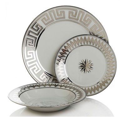 COLIN COWIE FOR HSN 24-piece Greek Key Dinnerware Set-Silver  sc 1 st  Pinterest & COLIN COWIE FOR HSN 24-piece Greek Key Dinnerware Set-Silver ...