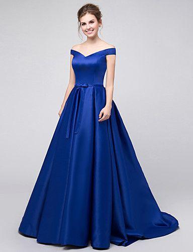 Vestido longo cetim azul turquesa