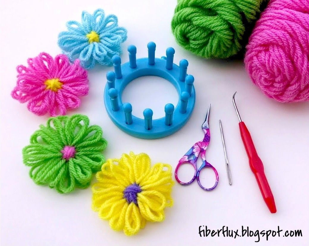 How to Make a Loom Flower | Free pattern, Flower and Stitch
