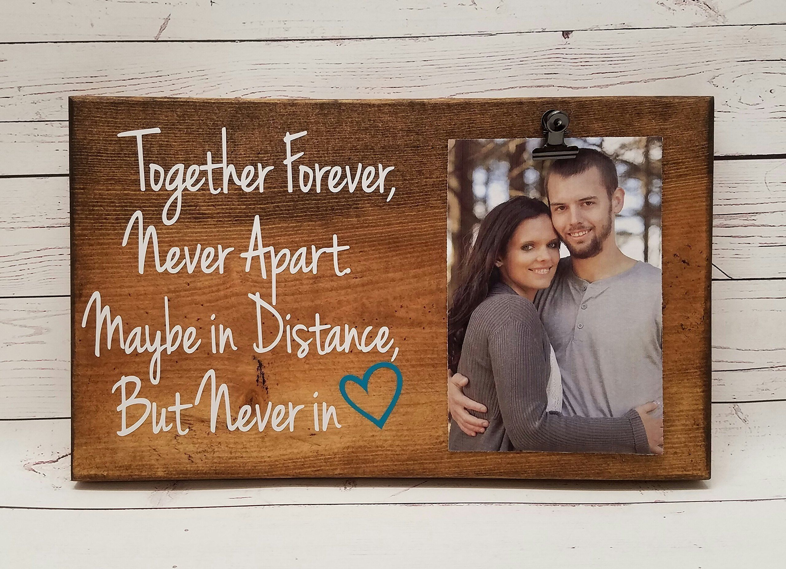 X Long Distance Friends or Relationship Photo board, wood picture ...