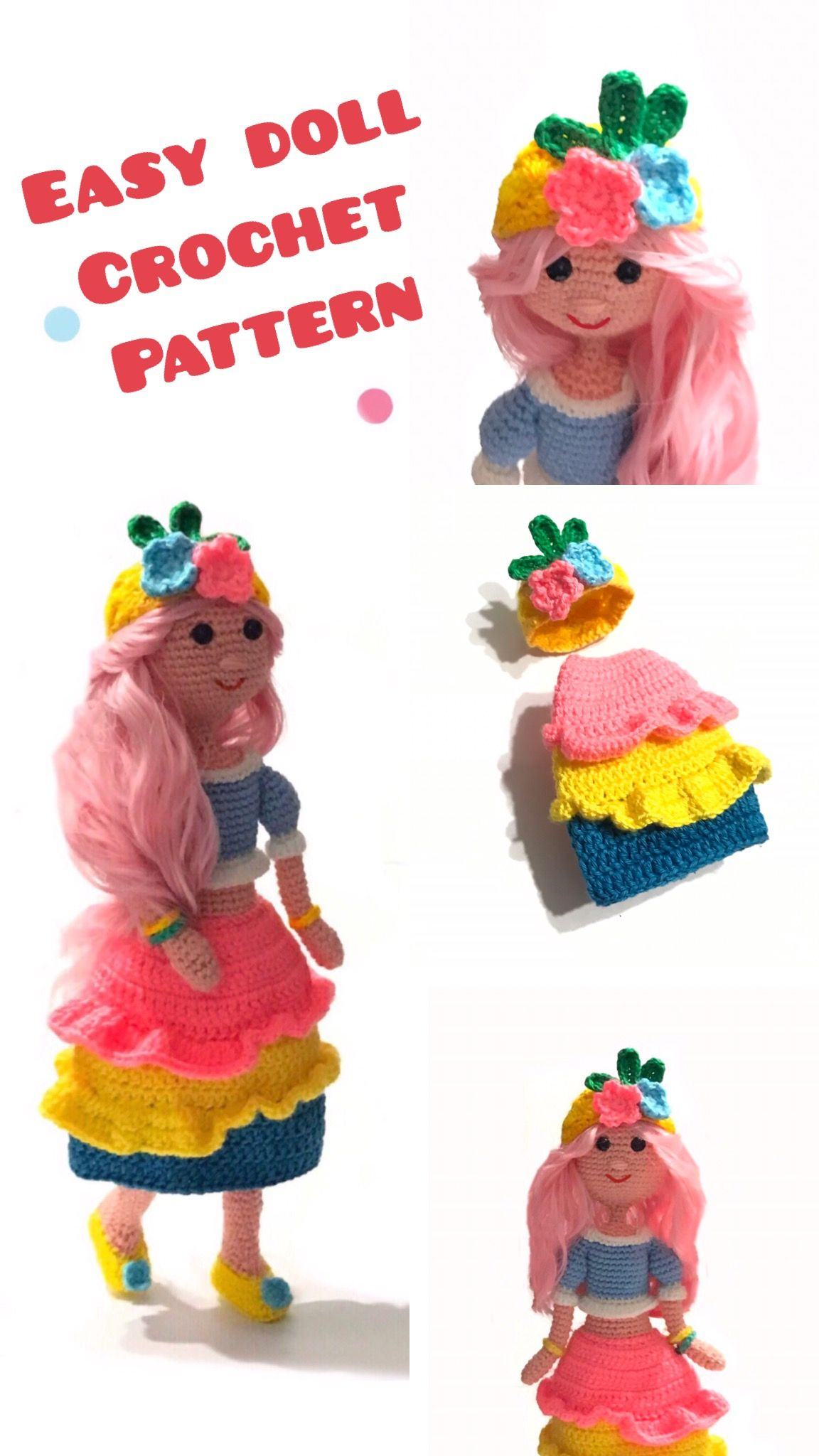 Cute Crochet Patterns Free And Pinterest Favorites | Crochet dolls ... | 2048x1152