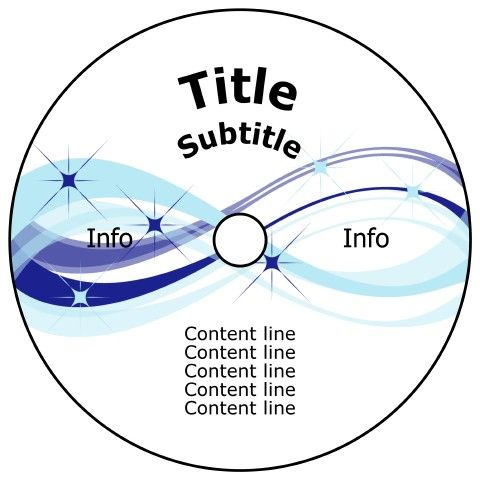 DVD Label template (Full Face Label) #CD #labels #template ...