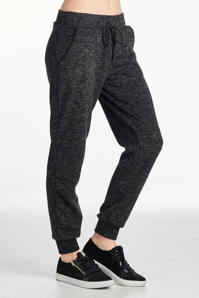 Women's Two Tone Brushed Sweat Pants