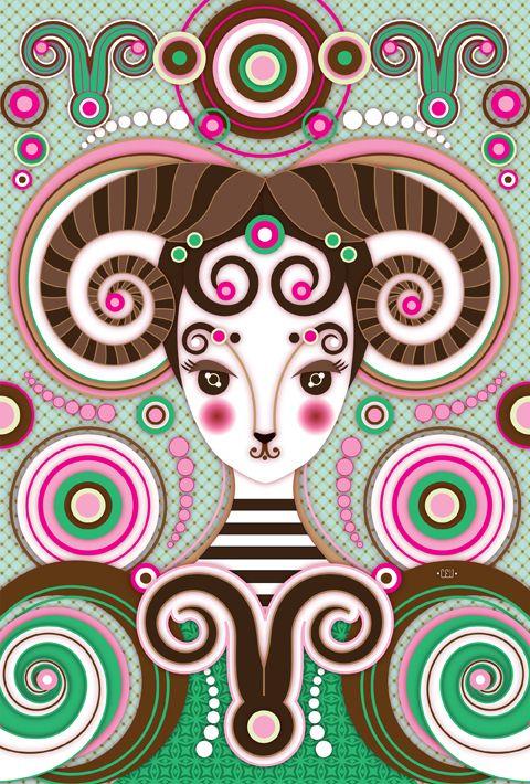Zune Originals Zodiac. Illustration by Catalina Estrada