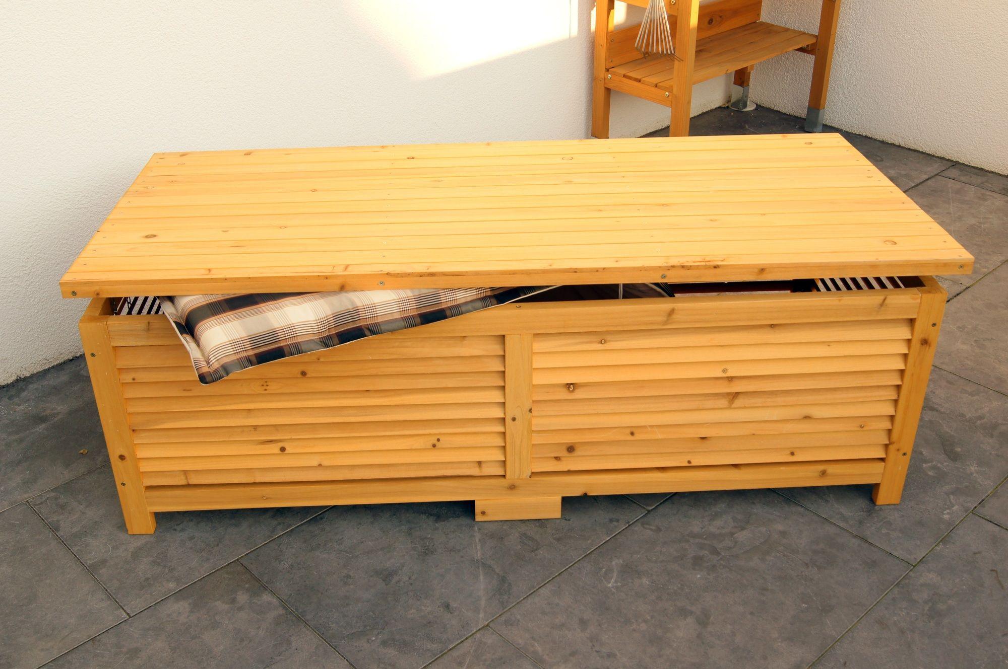 Holz Auflagenbox Kissenbox Gartenbox Gartentruhe Box Auflagen