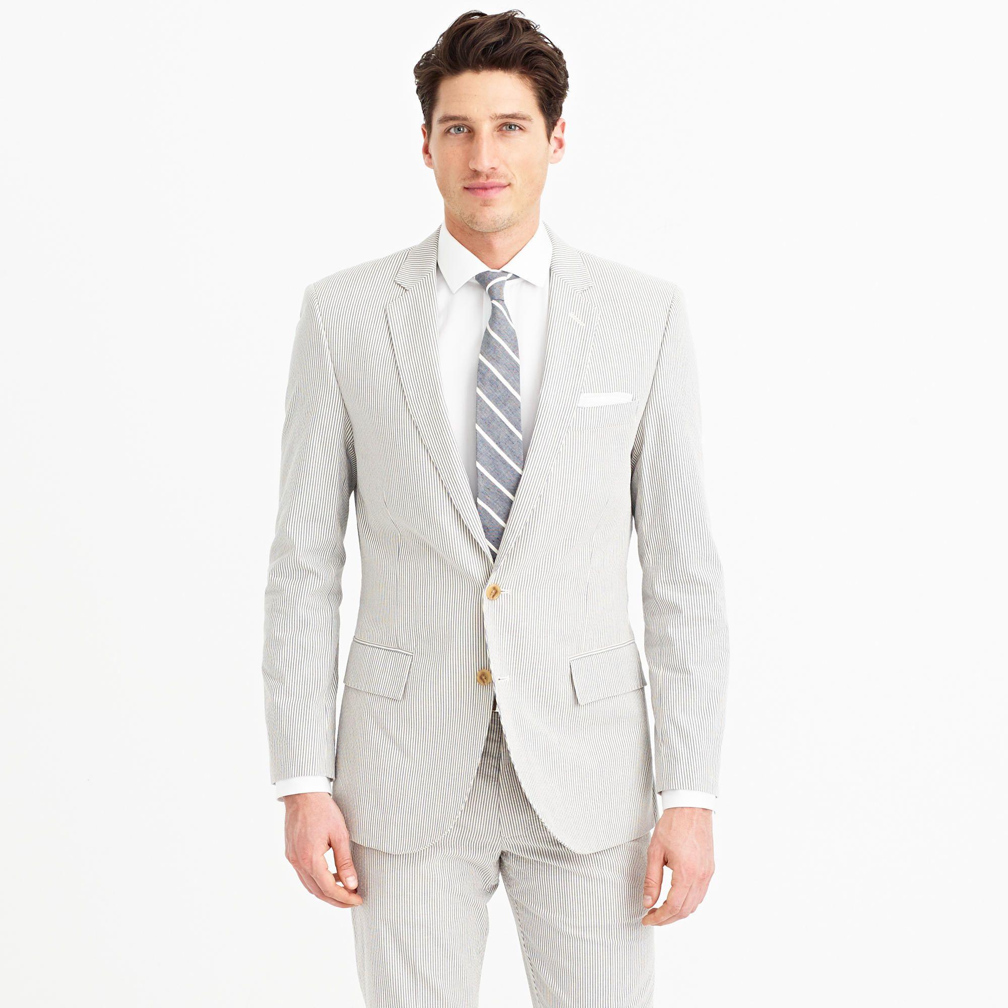 Ludlow suit jacket in Japanese seersucker : mens suits   J.Crew ...