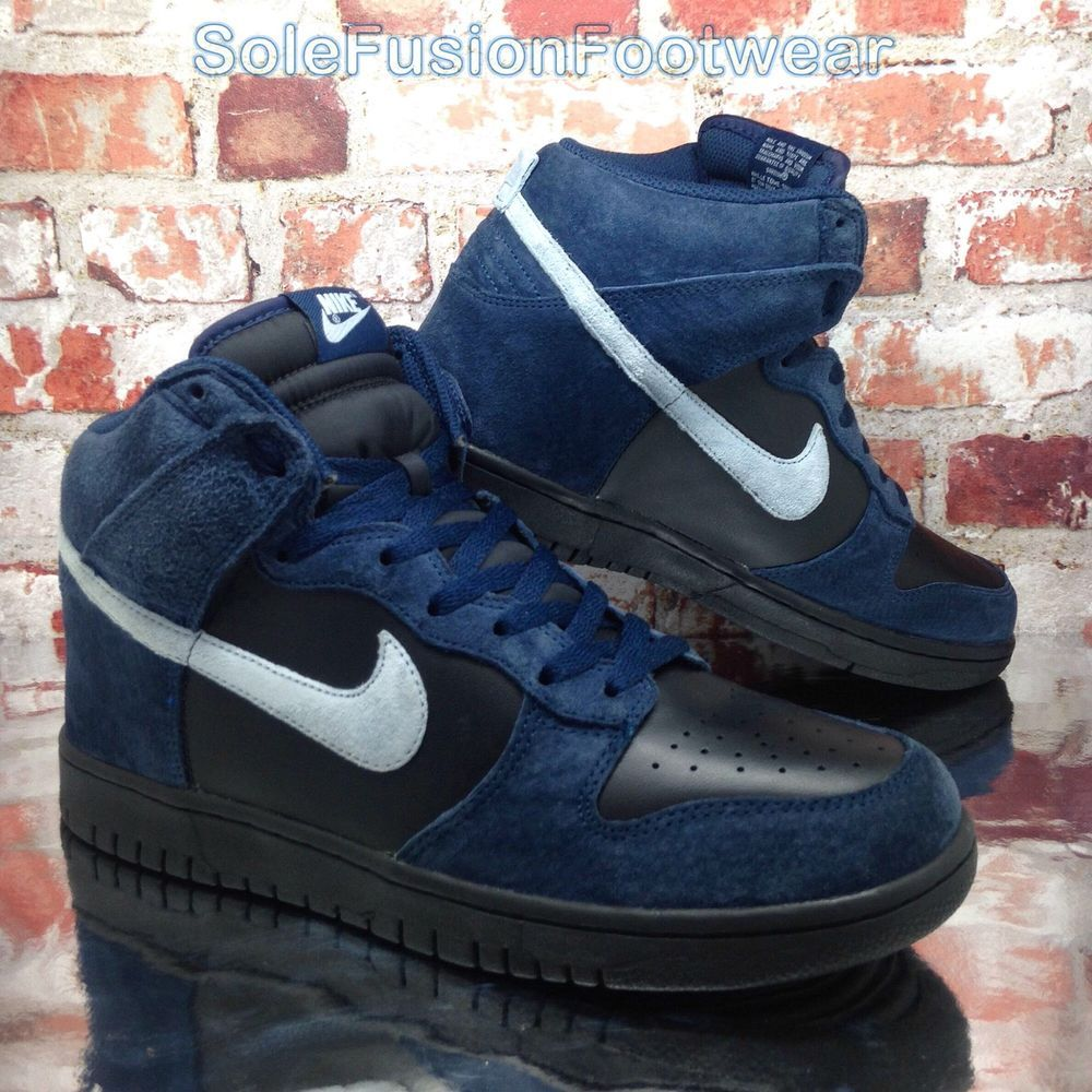 more photos 24c08 e9c88 Nike Mens DUNK High Trainers Black Blue size 9 Rare Basketball Sneakers US  10 44