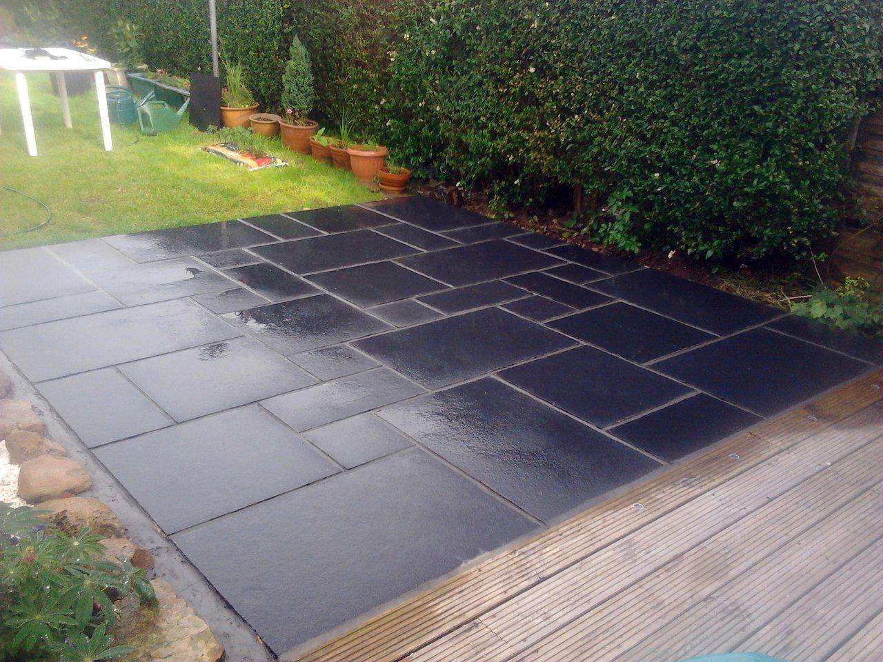 Slate Tiles Garden | Tile Design Ideas