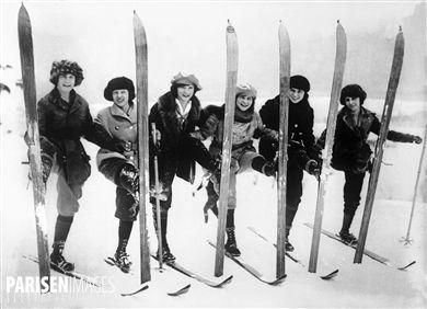 Skieuses, vers 1925.