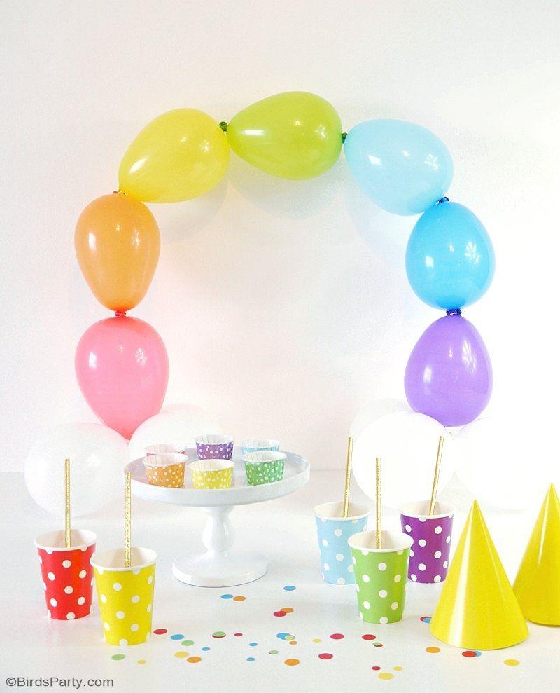 DIY Easy Rainbow Balloon Arch   Rainbow balloon arch, Rainbow ...