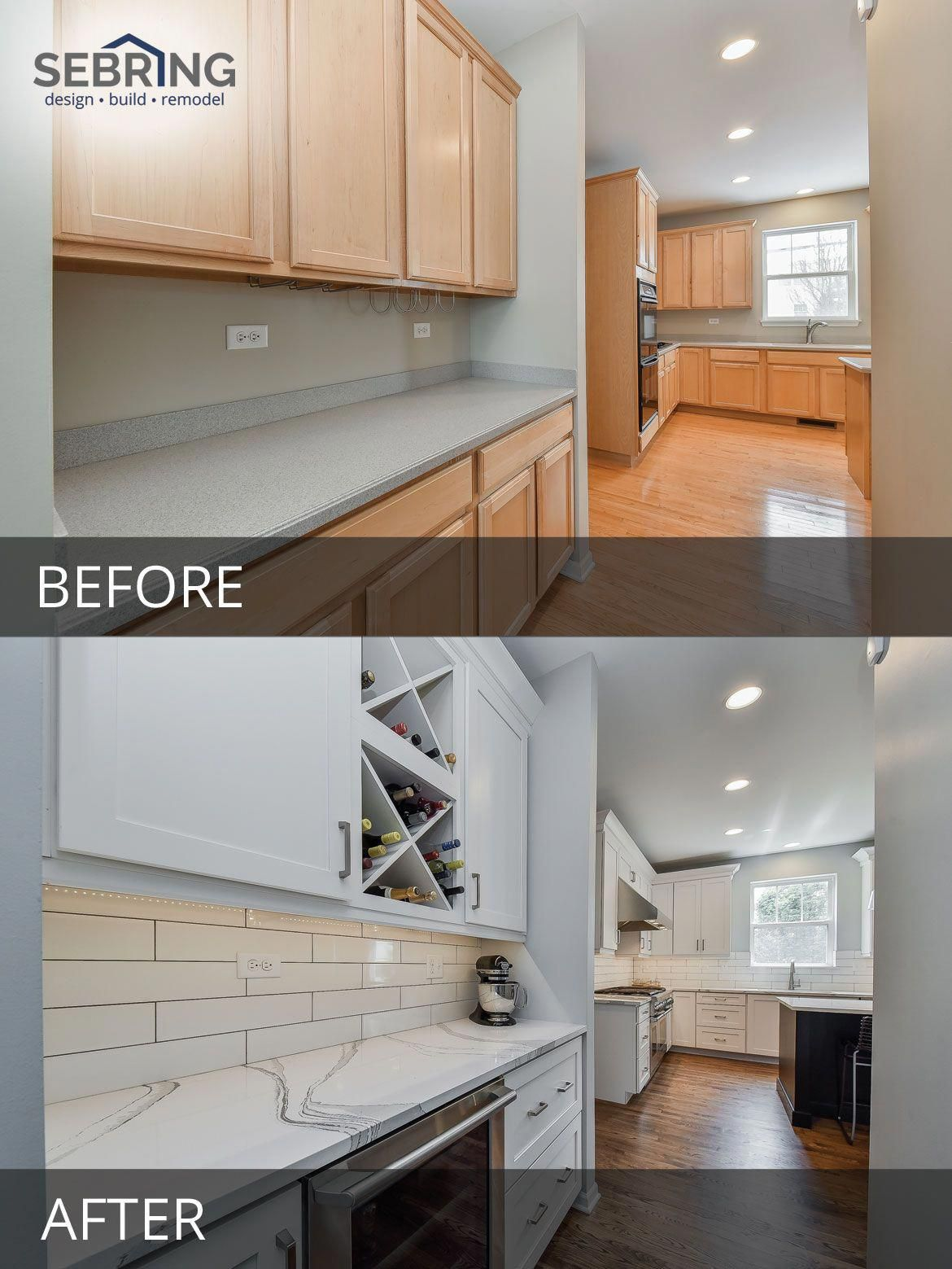 Plainfield Kitchen Remodel Before and After Pictures
