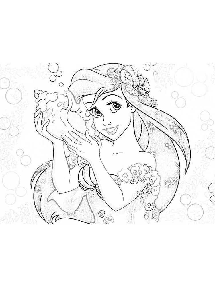 Ariel Coloring In Pages In 2020 Ariel Coloring Pages Princess Coloring Pages Free Coloring Pages