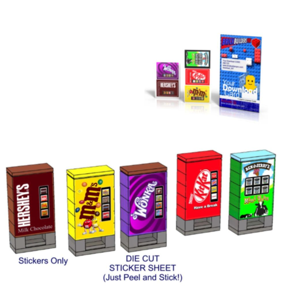 TOY BUILDS ETC Lego 3438 size CUSTOM DIE CUT STICKERS for HUNGRY JACK/'S MODELS