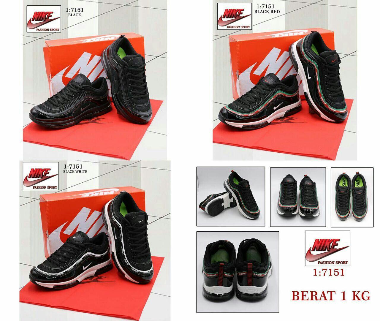 Sepatu Fashion Sport Merek Nike Seri 7151 Kualitas Semprem Warna