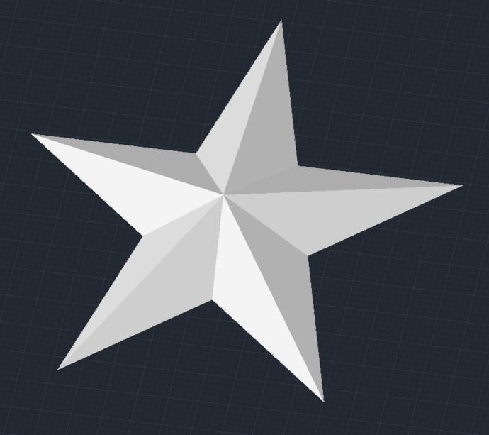5 Pointed Star File Digital Format Stl Download Template 3d For 3d Printer Stl 3d Printer Printer