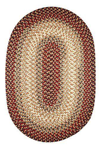 Red Indoor Outdoor Rug Braided Textured Design 5ft X Oval Braided Rugs Rhody Rug Indoor Outdoor Rugs Kitchens