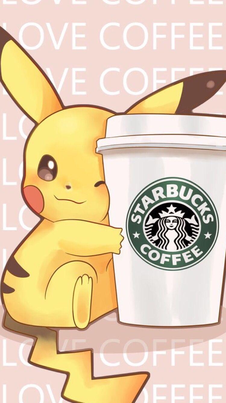 I So Want A Pikachu With My Starbucks Pikachu Wallpaper Cute Pokemon Wallpaper Pokemon