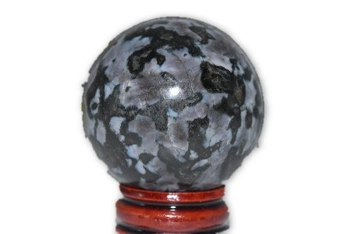 Indigo Gabbro Crystal Sphere 45mm with Stand