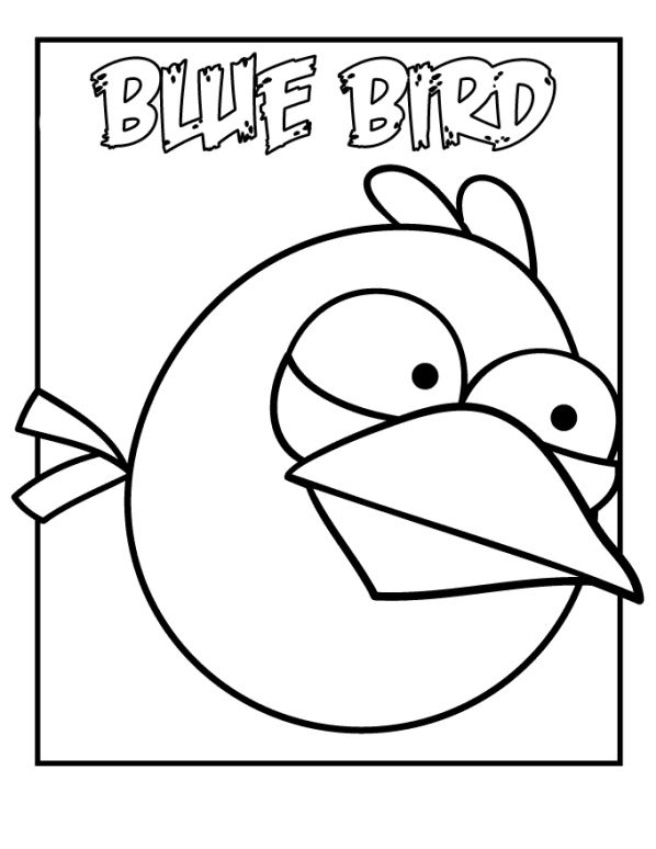 Kids-n-fun | Coloring page Angry Birds - blue bird Appliqué ...