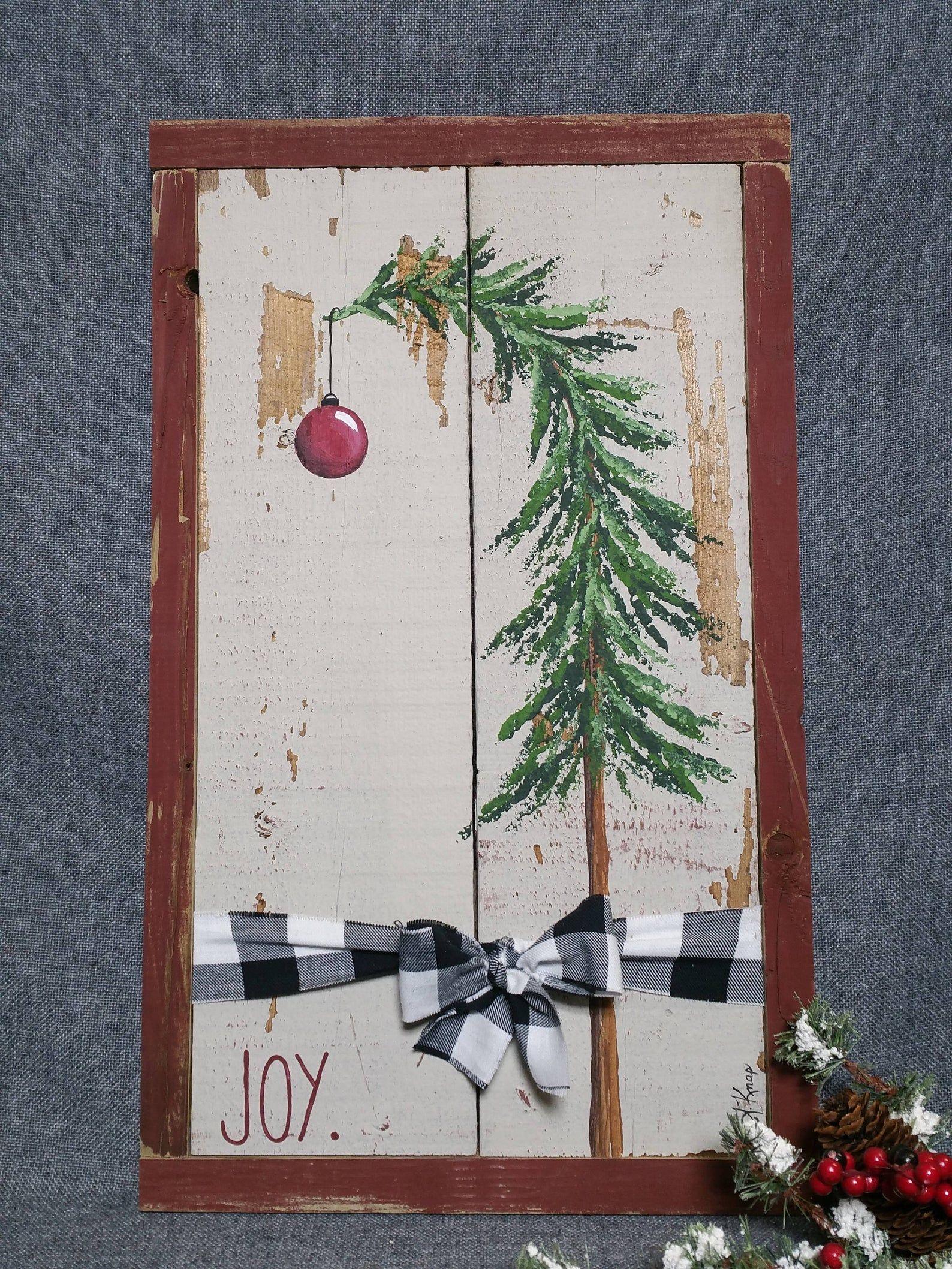 Photo of Christmas tree decor Shabby Farmhouse Christmas plaid bow   Etsy