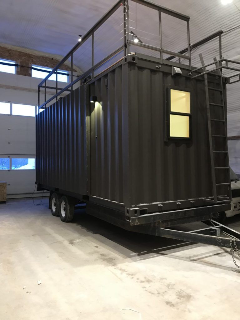 Vista C Shipping Container Tiny House from ESCAPE BBQ