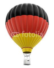 Hot Air Balloon with Germany Flag (clipping path included)