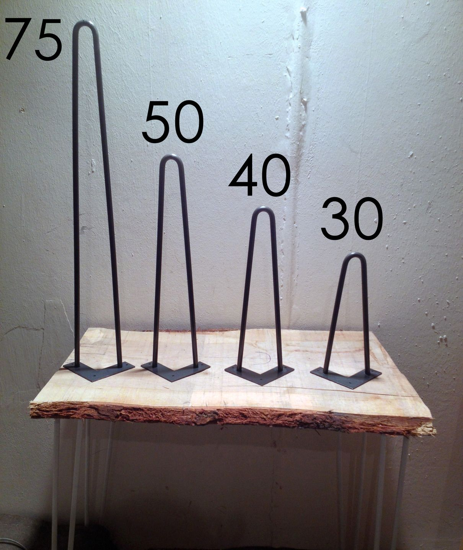 Pied de table en pingle 30 cm brut hairpin legs fait - Pieds de table originaux ...