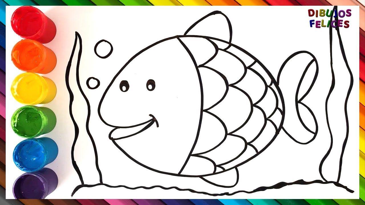 Como Dibujar Y Colorear Un Pez De Colores Dibujos Para Ninos Peces De Colores Dibujos Peces De Colores Como Dibujar Un Pez