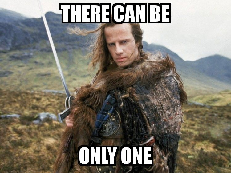Image result for highlander there can be only one