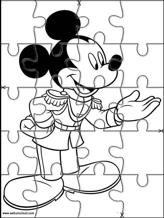 Puzzles. Quebra-cabeças para impressão para crianças Mickey Mouse 27 ...