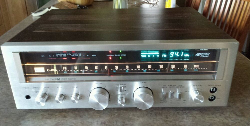 Vintage sansui g-4700 stereo receiver works well nice